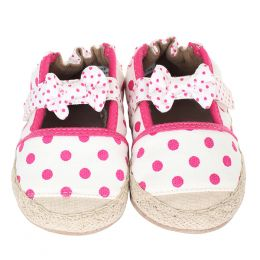 Robeez Fun Dot Espadrille Soft Soles Infant Shoes
