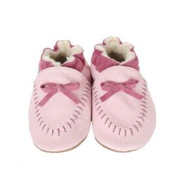 Robeez Cozy Pink Moccasin Soft Soles Infant Shoes