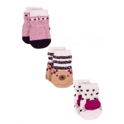 3-Pack Animal Love Hosiery