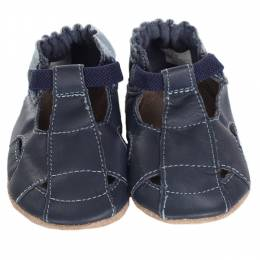 Robeez Navy Fisherman Sandals
