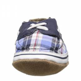 Robeez Navy Plaid Connor Soft Soles Infant Shoes