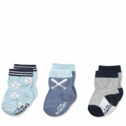 Robeez Batter Up Baby Socks (3 Pack)
