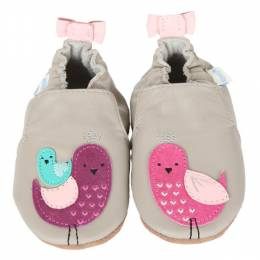 Robeez Peaceful Partridges Soft Soles Infant Shoes