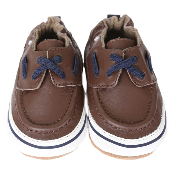 Robeez Connor Soft Soles Infant Shoes in Brown
