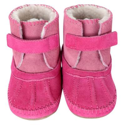 Galway Cozy Bootie Baby Boots in Pink