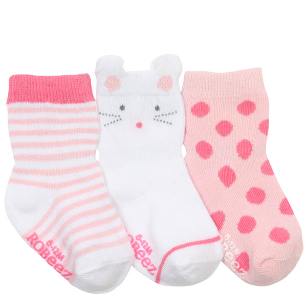 Robeez Mousey Baby Socks (3 Pack)