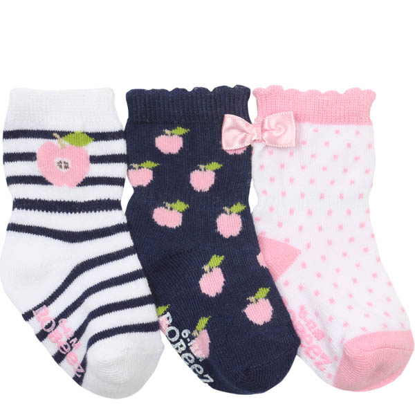 Robeez Apple Pickin' Baby Socks (3 Pack)