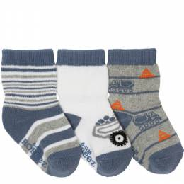 Robeez Mini Dumptruck Baby Socks (3 Pack)