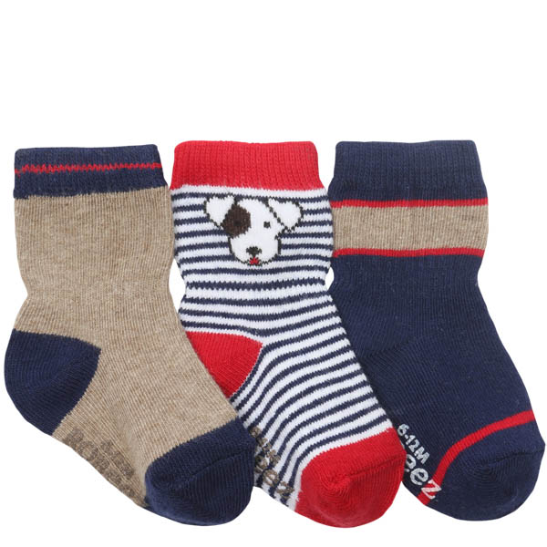 Robeez Puppy Pal Baby Socks (3 Pack)