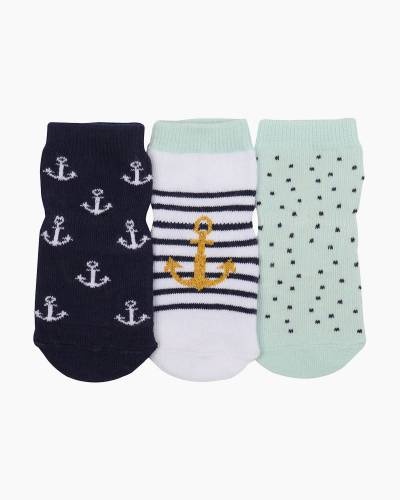 Anchors Aweigh Baby Socks (3 Pack)