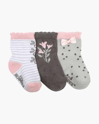Pink Petals Baby Socks (3 pack)