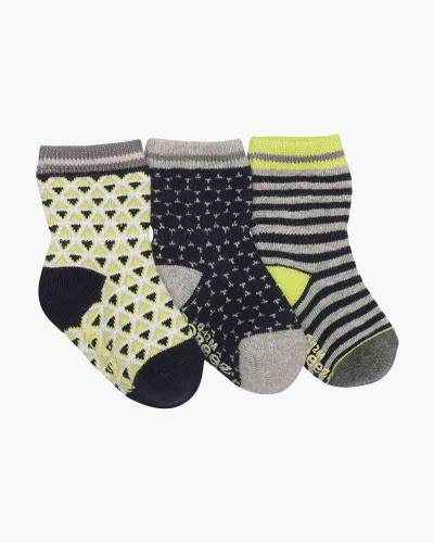 Geometric Print Baby Socks (3-Pack)