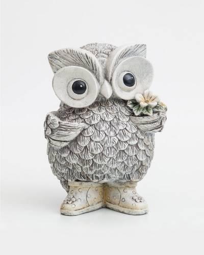 Owl in Rain Boots Figurine