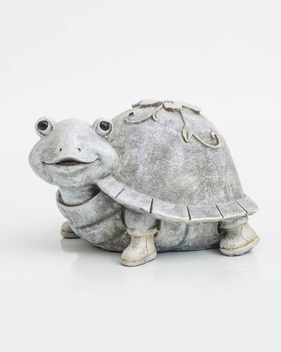 Turtle in Rain Boots Figurine
