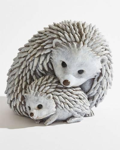 Hedgehog Family Garden Statue