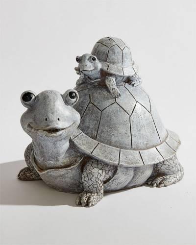 Turtle Family Garden Statue
