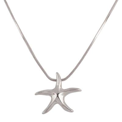 Small Starfish Pendant Necklace