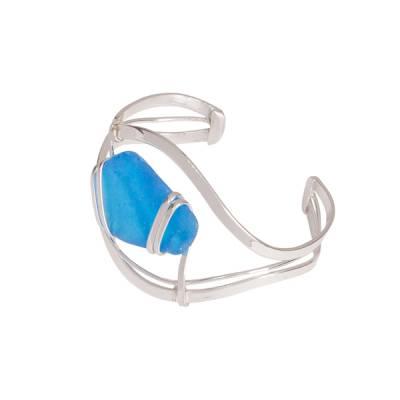 Large Sea Glass Cuff