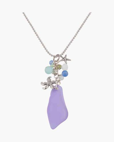 Starfish and Sea Glass Charm Necklace