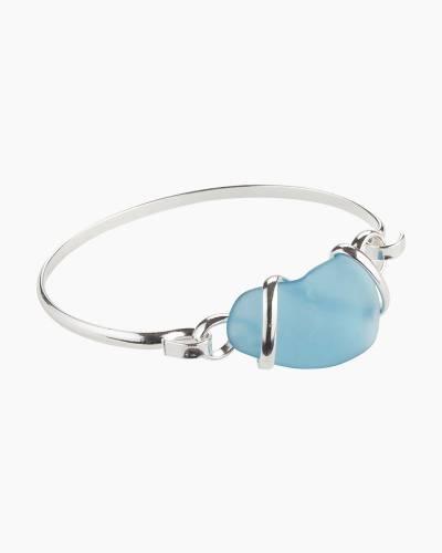 Sea Glass Hook Bracelet in Atlantic Blue