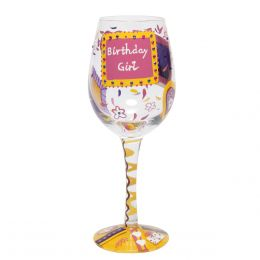 Lolita Birthday Girl Wine Glass