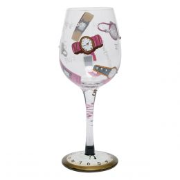 Lolita It's Five O'Clock Somewhere Wine Glass