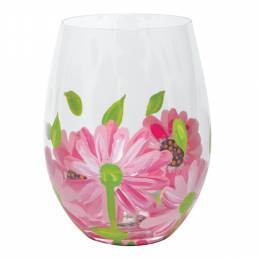 Lolita Oops-A-Daisy Stemless Wine Glass