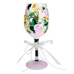 Lolita Bridal Bouquet Wine Glass
