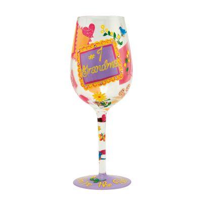 #1 Grandma Wine Glass