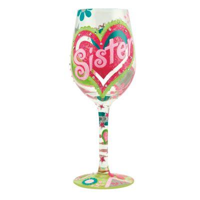 Sister...My BFF Wine Glass