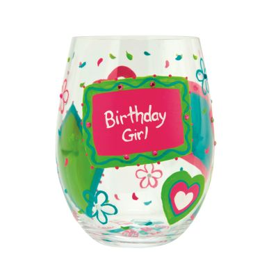 Birthday Girl, Too Wine Glass