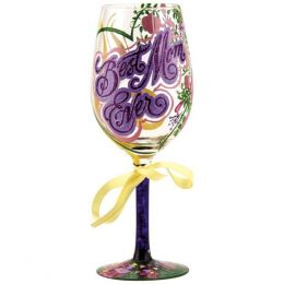 Lolita Best Mom Ever Wine Glass