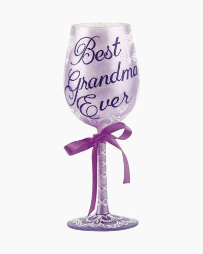 Best Grandma Ever Wine Glass