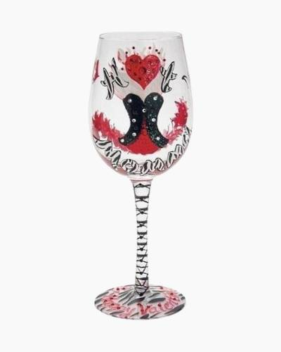 Red Hot Momma Valentine Wine Glass