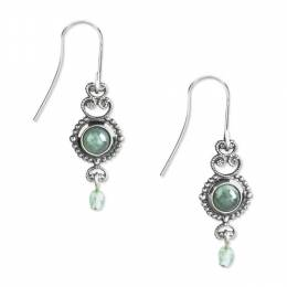 Silver Forest Turquoise Aventurine Filigree Drop Earrings