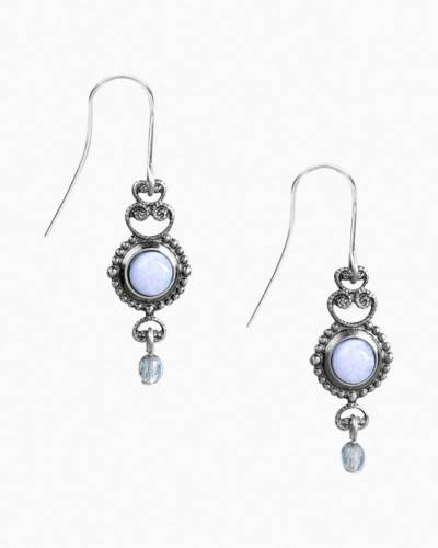 Lace Agate Filigree Drop Earrings