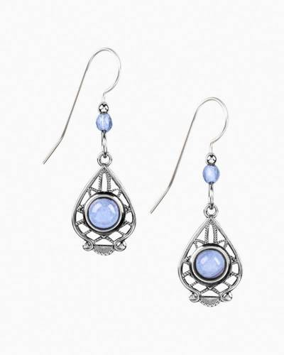 Blue Lace Agate Drop Earrings