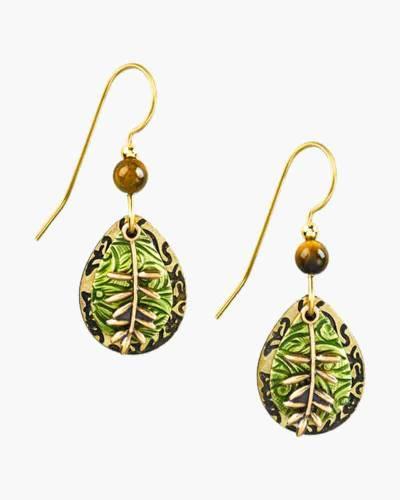 Leaf and Stem Earrings