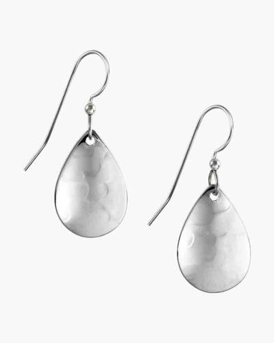 Simple Silver Teardrop Earrings