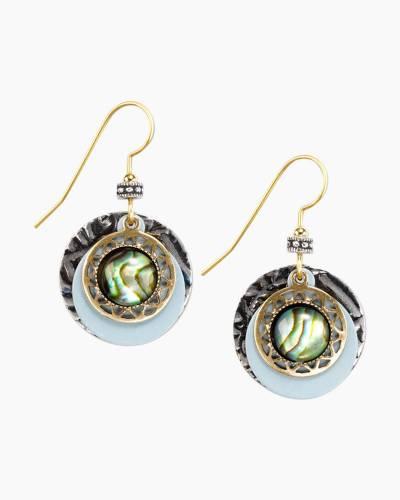 Layered Abalone Circle Earrings