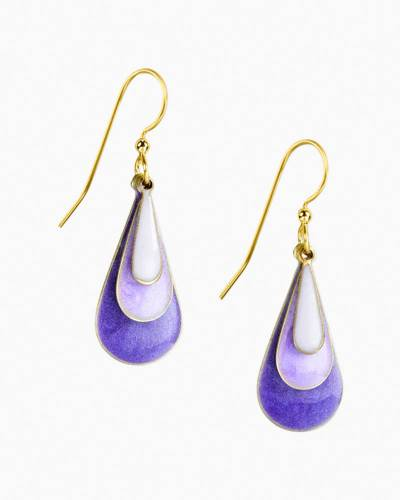 Layered Purple Teardrop Earrings