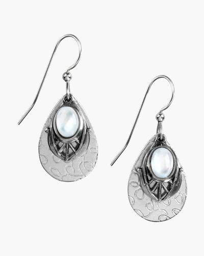 Filigree Teardrop and Stone Earrings
