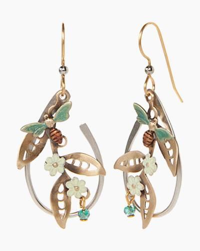 Bee Flower Earrings