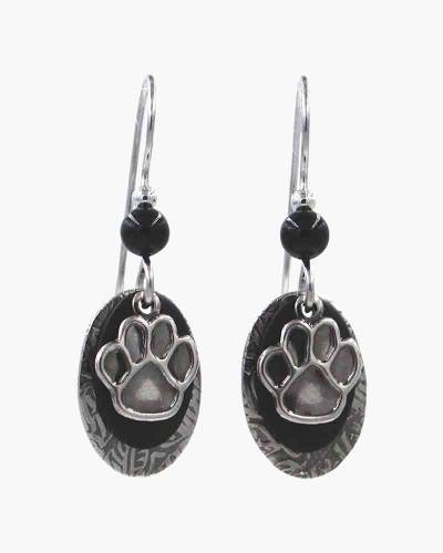 Oval Paw Print Earrings
