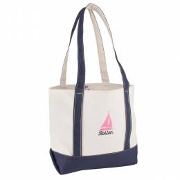 Soft as a Grape Boston Sailboat Canvas Tote Bag