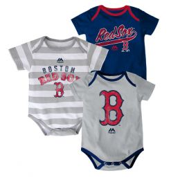 Majestic Boston Red Sox Newborn Romper Set of 3