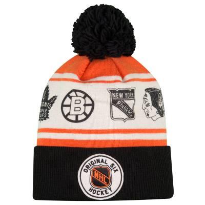 best cheap 58a33 06472 ... sweden reebok nhl original six hockey knit hat 62611 6787a