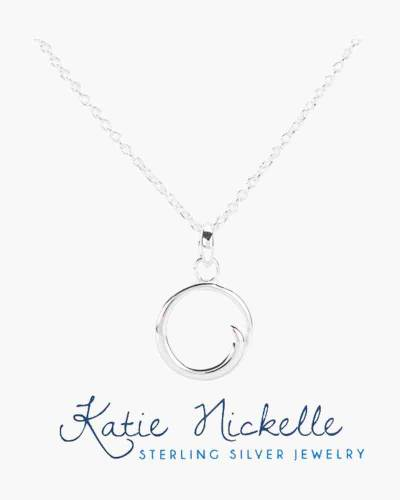 Silver Circle Charm Necklace