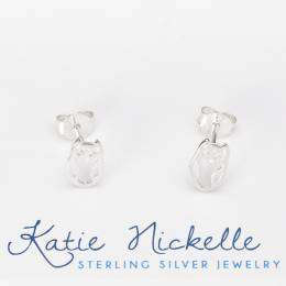 Katie Nickelle Silver Owl Earrings