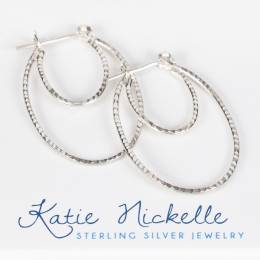 Katie Nickelle Silver Double Hoop Earrings